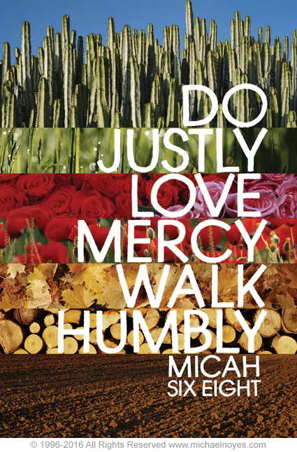Micah 6 8 Calligraphy Art Plaques Inspirational Gifts