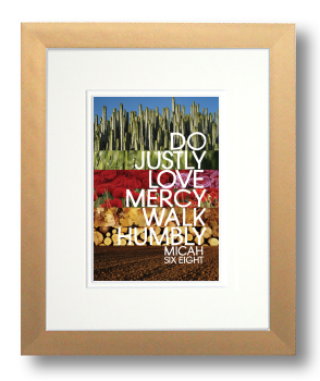 Micah 6:8, Calligraphy Art Plaques, Inspirational Gifts