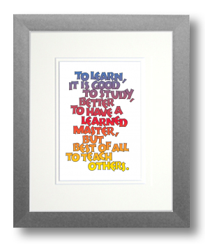 Learn, Calligraphy Art Plaques, Inspirational Gifts