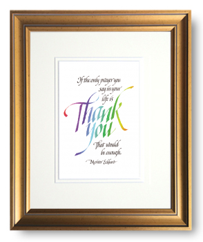 Thank You, Meister Eckhart, Calligraphy Art Plaques, Inspirational Gifts