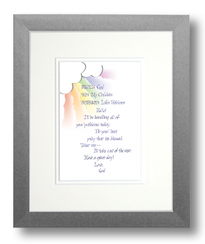 God's Memo, Calligraphy Art Plaques, Inspirational Gifts