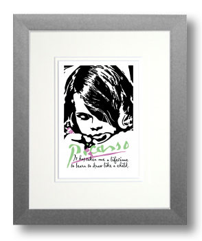 Picasso, Calligraphy Art Plaques, Inspirational Gifts