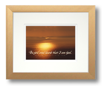 Be Still, Psalm 46:10, Calligraphy Art Plaques, Inspirational Gifts