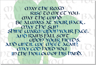 Irish Blessing, Calligraphy Art Plaques, Inspirational Gifts