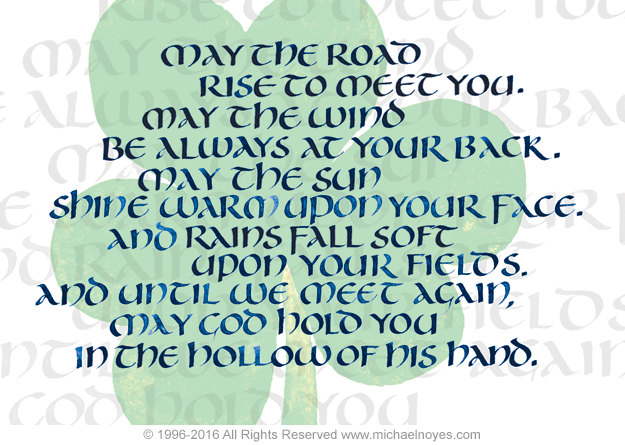 Funny Wedding Gifts Ireland : Irish Blessing, Calligraphy Art Plaques, Inspirational Gifts