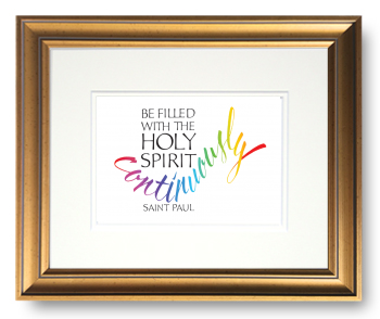 Holy Spirit, Ephesians 5:18, Calligraphy Art Plaques, Inspirational Gifts