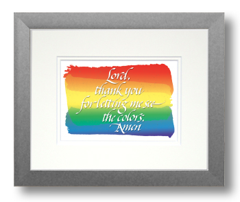 Rainbow, Calligraphy Art Plaques