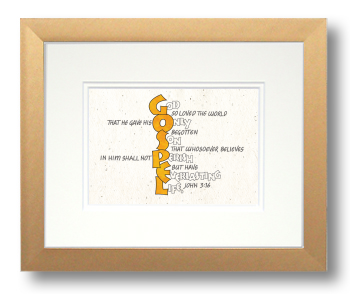 John 3:16, Calligraphy Art Plaques, Inspirational Gifts