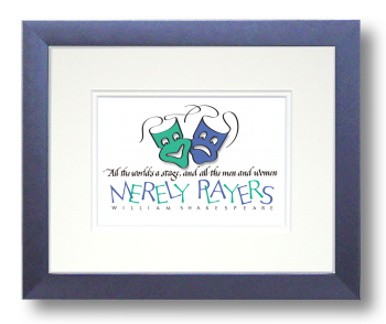 Merely Players, William Shakespeare, Calligraphy Art Plaques, Inspirational Gifts