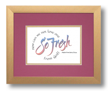 So Fresh, Charles Dickens, Calligraphy Art Plaques, Inspirational Gifts