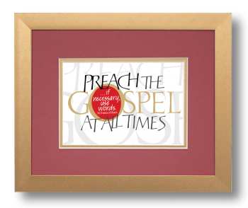 Gospel, St. Francis of Assisi, Calligraphy Art Plaques, Inspirational Gifts